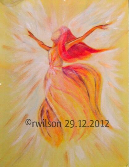 Archangel Gabriel (acrylic on box canvas)